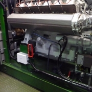 commissioned gas engine with support analysis of coolant, antifreeze, lubricating